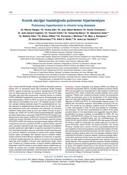Kronik akciğer hastalığında pulmoner hipertansiyon