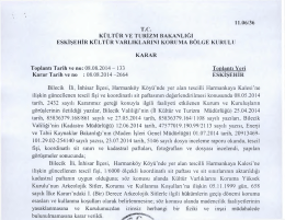 Bilecik İnhisar Harmanköy Harnankaya Kalesi 1. derece arkeolojik
