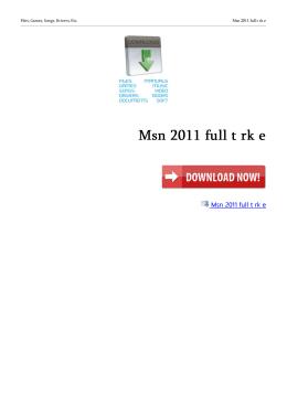 Msn 2011 full t rk e