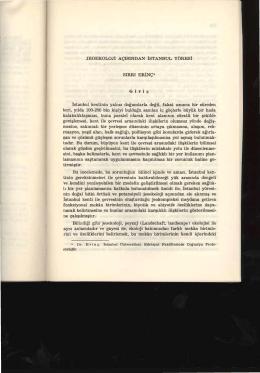 Jeoekoloji Açısından İstanbul Yöresi