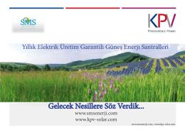 MS broşürü - Sms Enerji