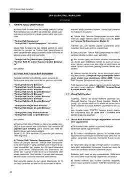 Ulusal Ralli Kuralları - Türkiye Otomobil Sporları Federasyonu
