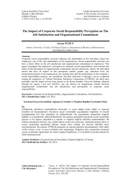 The Impact of Corporate Social Responsibility Perception on The