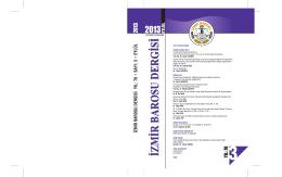 Sayı 2013-3 - İzmir Barosu