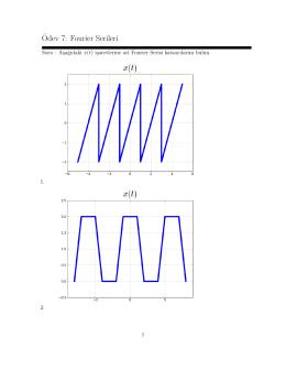 ¨Odev 7: Fourier Serileri - E