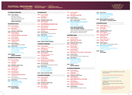 festival programı - Zeytinburnu Belediyesi