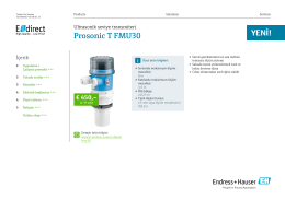 Prosonic T FMU30 - E-direct