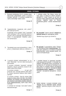 KPSS GYGK Türkiye Geneli Deneme Sınavı 3 Çözümleri