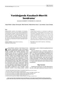 PDF - Yenidoğanda Kasabach-Merritt sendromu