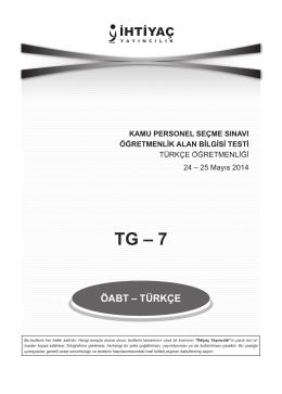 Türkçe 7 - İhtiyaç Yayıncılık
