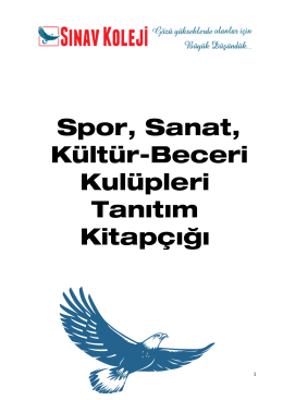 İlkokul - Antalya Sınav Koleji