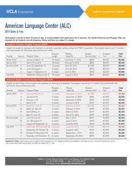 American Language Center (ALC)