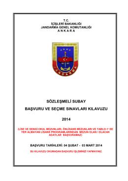 sözleşmeli subay başvuru ve seçme sınavları kılavuzu 2014