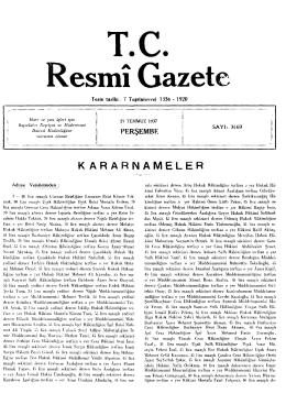 KARARNAMELERR - Resmi Gazete
