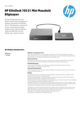HP EliteDesk 705 G1 Mini Masaüstü Bilgisayarı - Hewlett