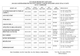 i.ü.sağlık bilimleri fakültesi 2014/2015 eğitim