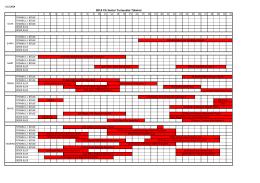 2014 Senior Turnuva Takvimi