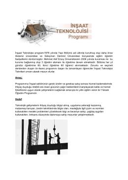 İnşaat - Mehmet Akif Ersoy Üniversitesi Teknik Bilimler Meslek