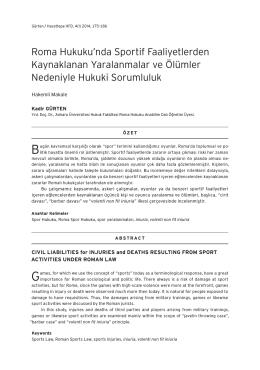 tam metin - Hacettepe Hukuk Fakültesi Dergisi