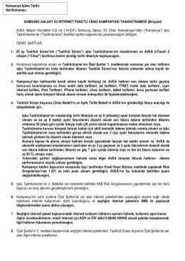 SAMSUNG GALAXY S3 İNTERNET PAKETLİ CİHAZ