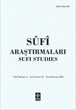 içindekiler - Sufi Araştırmaları Dergisi