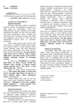 ALKOL VE UYUŞTURUCU 07.03.2014