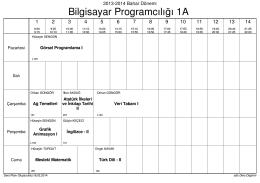2013-2014 Bahar - Tefenni Meslek Yüksekokulu