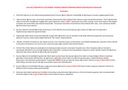 2014-2015 öğretim yılı güz dönemi erasmus öğrenci öğrenim