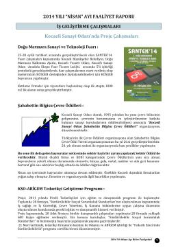 Nisan 2014 Faaliyet Raporu İndir