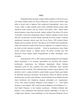 Sosyal Bilgiler Öğretiminde Türk Dünyası