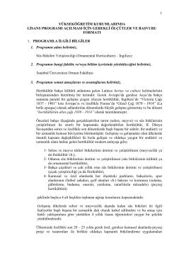 Yükseköğretim kurumlarında Lisans Programı