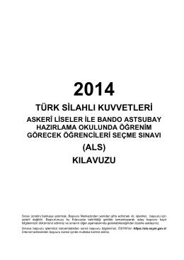 2014-ALS Kılavuzu