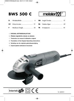 BWS 500 C - Meister Werkzeuge