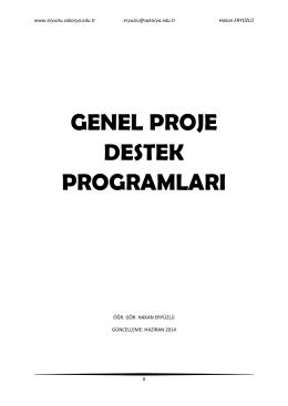 genel proje destek programları