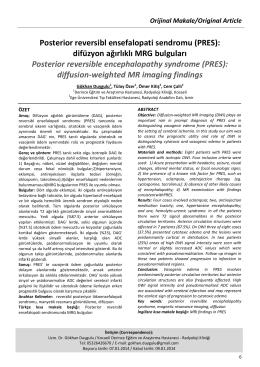 Posterior reversibl ensefalopati sendromu (PRES