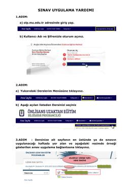 MMYO - BIP - UZAKTAN EGITIM SINAV UYGULAMA YARDIMI 2014
