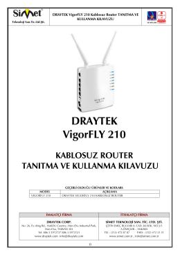 DRAYTEK VigorFLY 210 KABLOSUZ ROUTER TANITMA VE