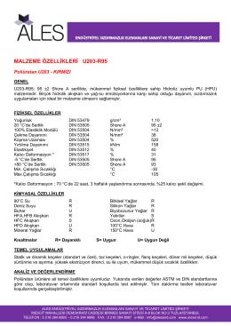 MALZEME ÖZELLİKLERİ U203-R95