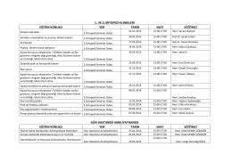 2013-2014 klinik içi hemşire eğitimleri