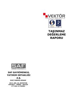 SAFGYORozi Fabrika Binası Ekspertiz Raporu