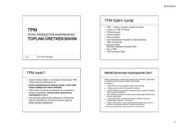 TPM - Yrd. Doç Dr. Ferhat Güngör