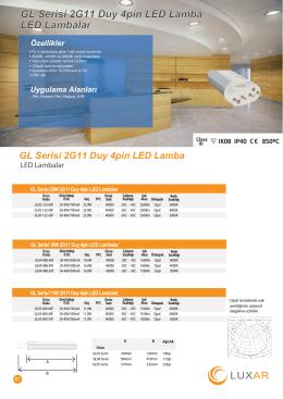 GL Serisi 2G11 Duy 4pin LED Lamba LED Lambalar