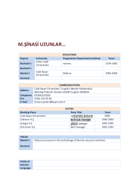 M.Sinasi Uzunlar - Celal Bayar Üniversitesi