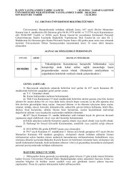 HEMŞİRE 34 - Yükseköğretim Kurumlarının hemşirelik bölümünden