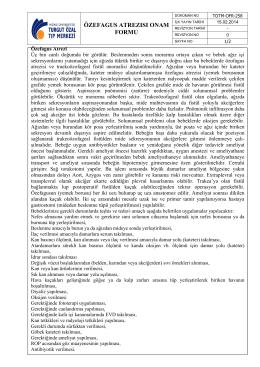 TOTM-OFR-258 ÖZEFAGUS ATREZISI ONAM FORMU