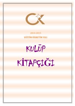 Kulüp Tanıtım Kitapçığı Cumhuriyet Koleji Kağıthane Kampüsü