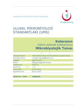Kolera - Türkiye Halk Sağlığı Kurumu