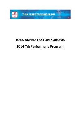 Performans Programi 2014