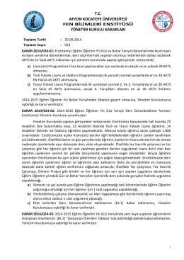 karar 2014/024 - Afyon Kocatepe Üniversitesi