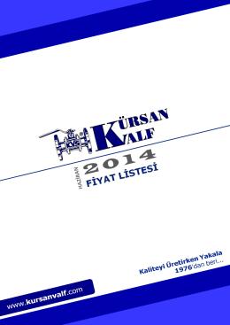 Fiyat Listesi - Kürsan Valf   San. Tic. Ltd. Şti.